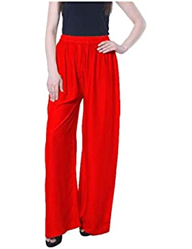Magrace Flared, Regular Fit Women's Red Trousers