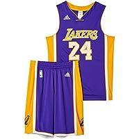 adidas Maglietta da bambini Los Angeles Lakers Kit, Bambini, Trikot Los Angeles Lakers Kit, viola, 176