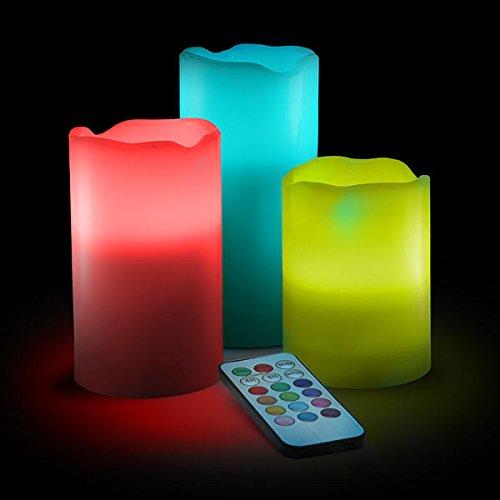 SheepRiver 18Key color con T ¨ ¦ l ¨ ¦ palanca Timing función boda Creative D ¨ ¦ coration Bar LED Candle Light