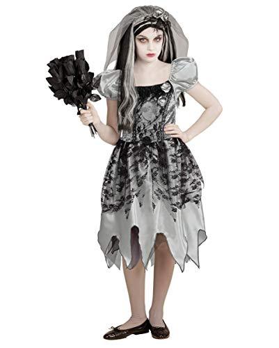 Horror-Shop Schwarze Witwe Mädchenkostüm für Halloween & Fasching M