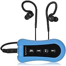 Sigoma 8 GB natacion acuatico reproductor de mp3 con auriculares impermeables de alta calidad de sonido(Blue)