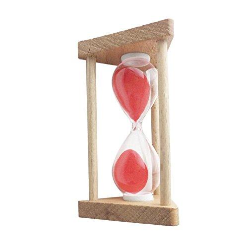 Homyl 30 Sekunden / 90 Sekunden / 1 Minute/ /3Minuten / 5 Minuten /10 Minuten Sanduhr Sandglass für Haus Zimmer Büro Dekoration - Rot - 30 Sekunden (30-sekunden-sanduhr Timer)