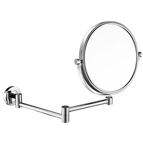 GuRun 8 Inch Two-Sided Swivel Wall Mounted Mirror Vanity Mirror with 10x Magnification,Chrome Finish M1305(8in,10x) by GuRun