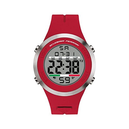 Grey Dial Mens Digital Casual Quartz Ferrari Watch Scuderia Ferrari 0830370