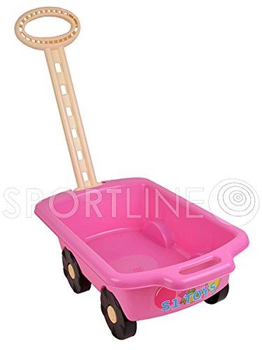 Gartengeräte für Kinder Schubkarre Garten Kinder Spielzeug Sandspielzeug Sandkasten mit Griff Laufkatze (Rosa)