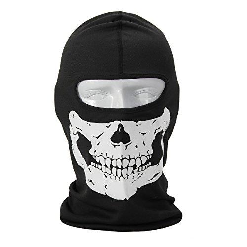 Coxeer® Geister Schädel-Maske Balaclava Hood Ghosts Skull Mask Outdoor Sports Skilaufen Wandern Full Face Mask for Men Maske für Männer (Model 12)