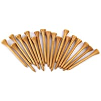 TYKusm 100 Golf-Tees aus Holz mit Stick-(Holz Farbe)