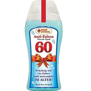 Andrea Verlag Spaß Duschbäder Duschgel Shampoo zum Geburtstag Geschenk für Männer Frauen (60. Geburtstag 32998)