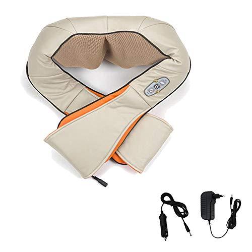 Hengda Shiatsu Massage Nackenmassagegerät massagegeräte Infrarot Massagegerät Wärmefunktion Schultern Körper Infrarotwärme Wärmefunktion mit Autoadapter