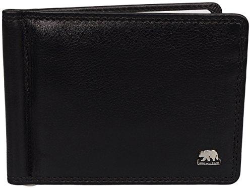 Brown Bear Dollarclip Herren Leder Schwarz 1407 - Feder-clip-geldbeutel