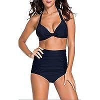 SunIfSnow donna rivestimento non cerchi raccogliere regolabile cinghie Halter Split Bikini