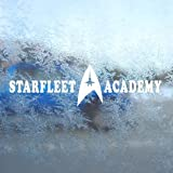 Aufkleber / Autoaufkleber / Sticker / Decal STAR TREK STARFLEET ACADEMY White Decal Window White Sticker