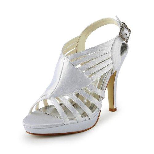Jia Jia Wedding 37033 Scarpe Sposa Scarpe col tacco donna Bianco