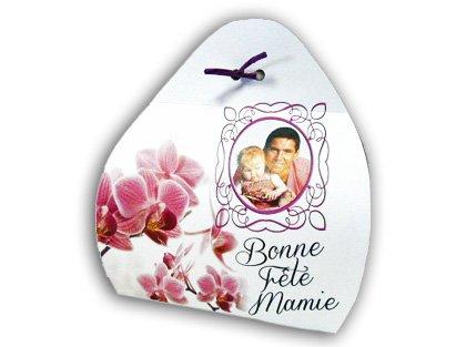 Ballotin fête des Grands mères de 150g chocolat artisanaux personnalisé avec votre texte et votre photo