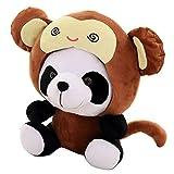 osmanthusFrag 1 Unid Lindo Panda Zodiaco Chino Peluche Muñeca De Peluche Niños Bedtime Toy Throw Pillow Home Sofá Decoración Regalo De Cumpleaños Mono