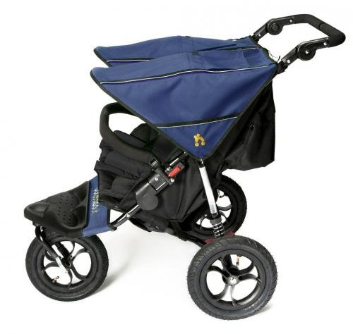 Out n About V4 Double Stroller with Basket - Royal Navy