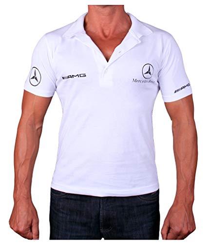 Mercedes AMG Benz Polo Logotipo Collar Etiqueta Pegatinas de la Camise