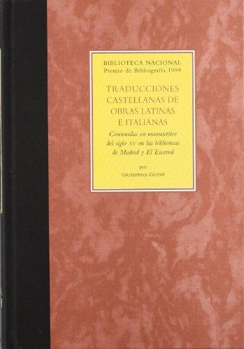 TRADUCCIONES CAST.O.LATINAS E ITALIAN.(F