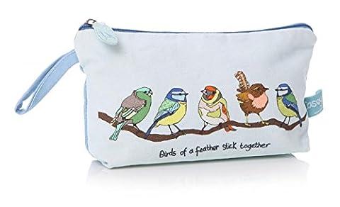 British Birds Blue Tit and Friends Ladies Make Up Bag