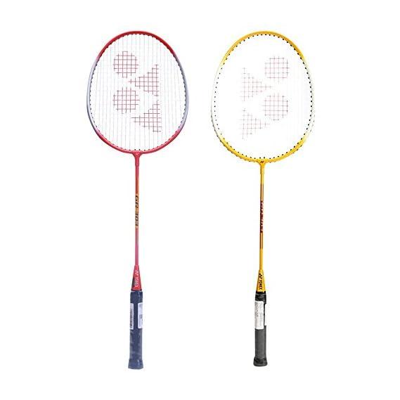 Yonex GR 303 Combo Badminton Racquet, Set of 2 (Yellow/Red)