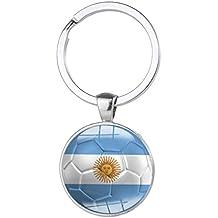 """2018Coppa del Mondo Keychain squadra di calcio Soccer Fan titolare Keychain, Argentina, 61mm X 30mm/2.4"""" x 1.18"""""""