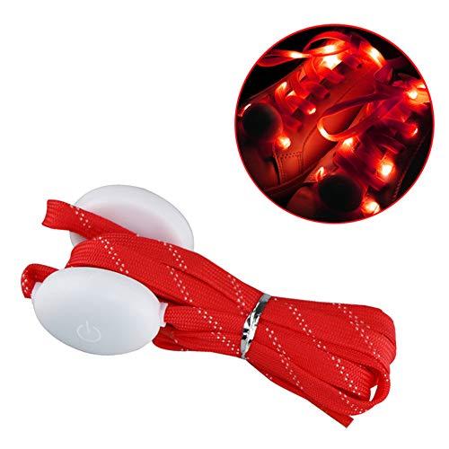 Lilideni LED Luce rossa delle scarpe Luce alimentata a batteria Luce costante/Lampeggiamento lento 3 diverse modalità di illuminazione Effetti per scarponi da ghiaccio Pattinatori su ghiaccio
