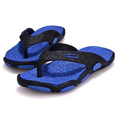Informale all'aperto sandali piani del tallone pelle Slippers & Estate Luce Soles microfibra maschile sandali US9.5 / EU42 / UK8.5 / CN43