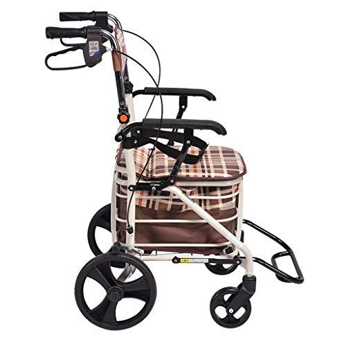 Moolo carrello della spesa pieghevole, negozio di generi alimentari leggero carrello piccolo carrello pieghevole portatile per bagagli carrello per la casa può sedersi g6 (colore : a)