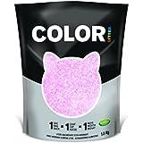 Color por Nullodor agrupamiento Sílice Cat Litter 1,8kg rosa