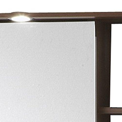 FMD 901-008 Spiegelschrank Madrid 8 B/H/T ca. 65 x 72 x 29 cm zwetschge/weiß - 5