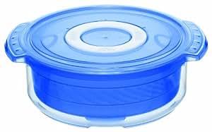 rotho micro clever mikrowellen geschirr dampfgarer polyethylen 1 5 l wei blau. Black Bedroom Furniture Sets. Home Design Ideas