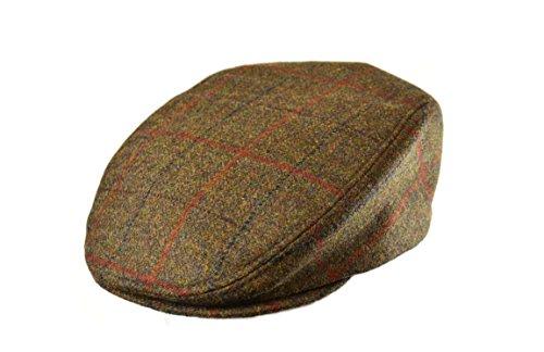 Crown Cap Scottish Tweed Ivy Cap, Unisex, Harvest Brown, Medium Tweed Ivy Hat