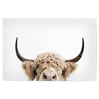 artboxONE Poster 60x40 cm Natur Peeking Cow hochwertiger Design Kunstdruck - Bild Natur von Sisi and SEB