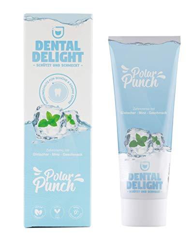DENTAL DELIGHT Zahnpasta mit Geschmack | Prophylaxe & Whitening Toothpaste | Vegan, tierversuchsfrei, ohne Mikroplastik und Palmöl, klimaneutral (Gletscher Minz, 1)