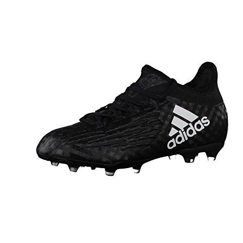 adidas X 16.1 Fg J, Chaussures de Football Entrainement garçon noir/blanc/noir