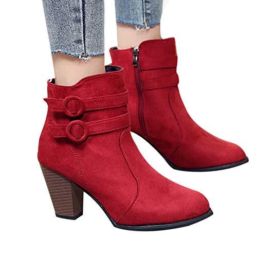 Vovotrade  Stivali da Donna di Grandi Dimensioni con Tacco Alto Europeo, Stivaletti da...