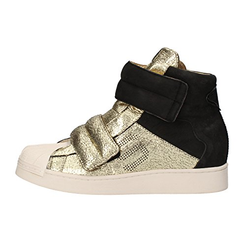 SERAFINI sneakers donna pelle scamosciata pelle Nero/Oro