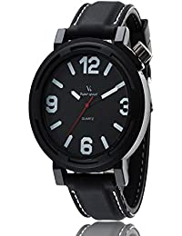 iSweven V6 series simple fashion silicone strap sports Mens watch Analogue Black Unisex Wrist Watch w1059a