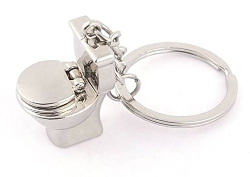 Shop & Shoppee Metal Potty Box Toilet seat Keychain Key Chain