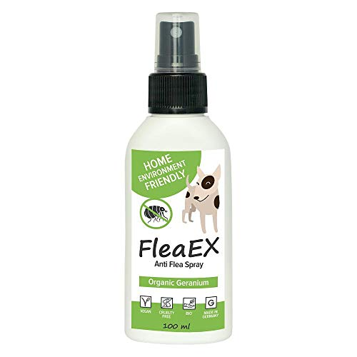 Antiparassitario per cani FleaEx | Antipulci cane biologico spray 100ml | Alternativa a collare antipulci cane e insetticida | Accessori per cani
