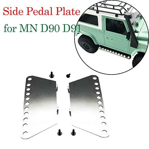 Dapei 2PCS Metall Pedal Upgrade Metall Side Pedal Kit Modifizierte Set für MN D90 D91 1/16 RC Car Auto Truck LKW Ersatzteile