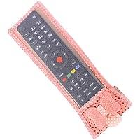 Uzinb Cubierta de la Caja de TV decoración Bowknot a Prueba de Polvo del acondicionador de Aire Mando a Distancia Protector de Tela de Encaje