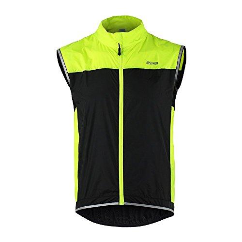 Docooler Abbigliamento Ciclismo Uomo Donna Primavera Autunno Ultrasottile Podismo Ciclismo Bicicletta Gilet Antivento Senza Maniche del Cappotto Casual Abbigliamento