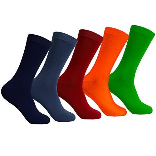 L&K 9 Paar Herren Casual Socken Bambus Freizeit Bunt 2211 39-43 -