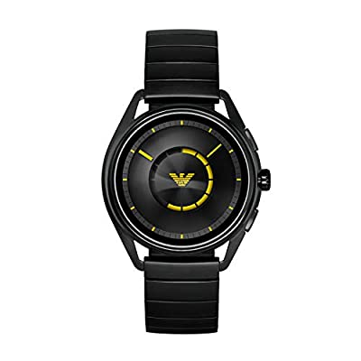 Emporio Armani Mens Smartwatch with Stainless Steel Strap ART5007
