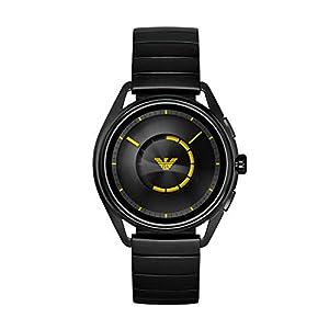Emporio Armani Vyrams Digital Smart Laikrodis Rankinis Laikrodis mit Edelstahl Armband ART5007