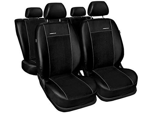 A4 B8 Sitzbezüge nach Maß perfekte Passform Schonbezüge Sitzschoner Velour + Strickpolster ®Auto-schmuck (A4 B8 Premium schwarz) -
