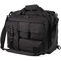 GES 15.6 inch Laptop Bag, Multi-funtion Men's Outdoor Tactical Nylon Shoulder Laptop Messenger Bag,Briefcase Handbags for Camera/Tablet/Notebook