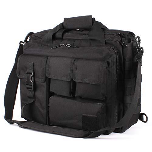 Ges multifunzione uomini e donne tattica esterna di nylon spalla messaggero del computer portatile della cartella del sacchetto borse abbastanza grande per 15.6