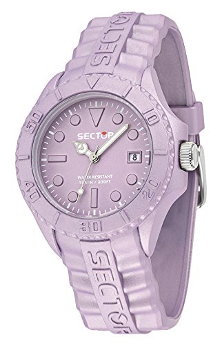 Sector No Limits Sub Touch Men's Quartz Watch with Purple Dial Analogue Display and Purple Silicone Strap R3251580012